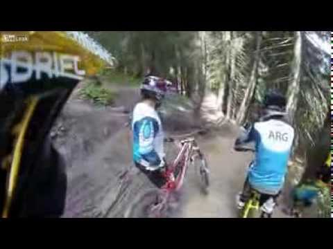 Unexpected Turn Sends Mountain Bikers Flying
