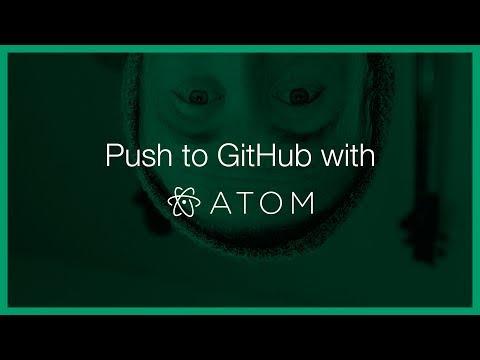 Pushing to GitHub with Atom