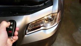 2011-2017 Chrysler 300 Sedan - Testing Key Fob After Changing Battery - Parking Lights Flashing