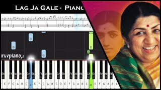 ♫ Lag Ja Gale (Lata Mangeshkar) || Piano Tutorial + Music Sheet + MIDI with Lyrics.mp3