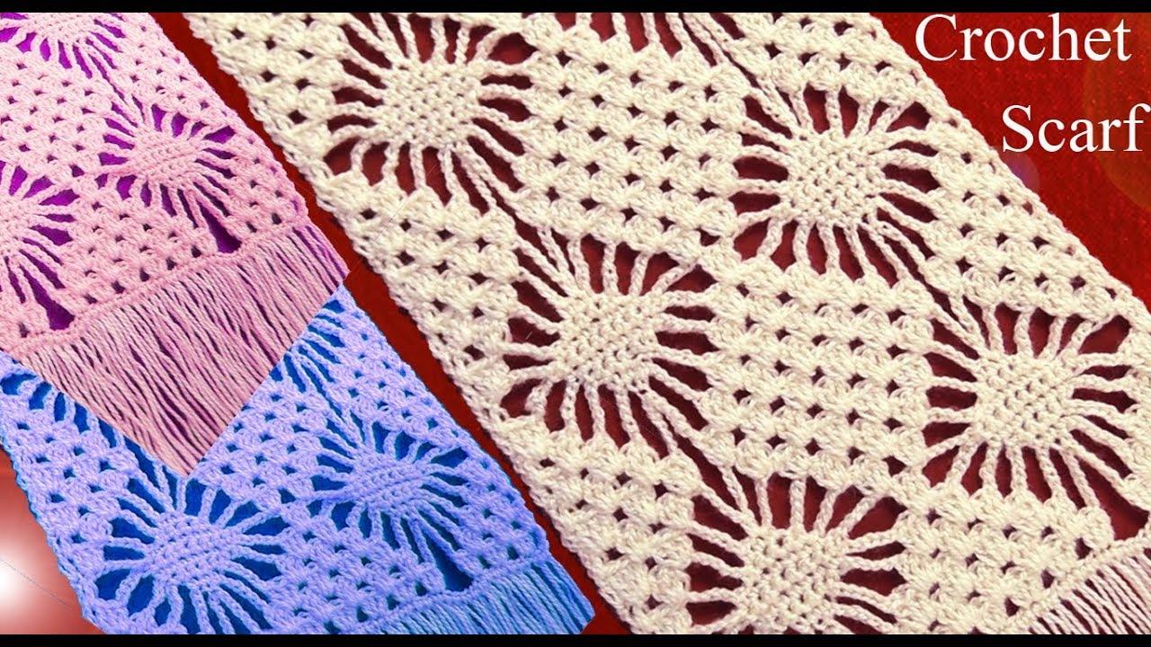 Filigranas Crochet Tallermanualperu Chalina Punto A O Bufanda En Rombos Tejido qSUMVpzG