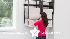 80719 Wall-Mounted Chair Rack