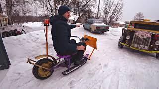 ✅Забацал Электро Снего-Лопату⚡⚡⚡ Расчистит снег Быстро!