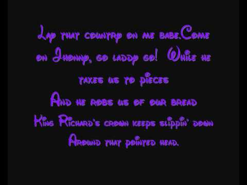The Phoney King Of England - Disney's Robin Hood Lyrics