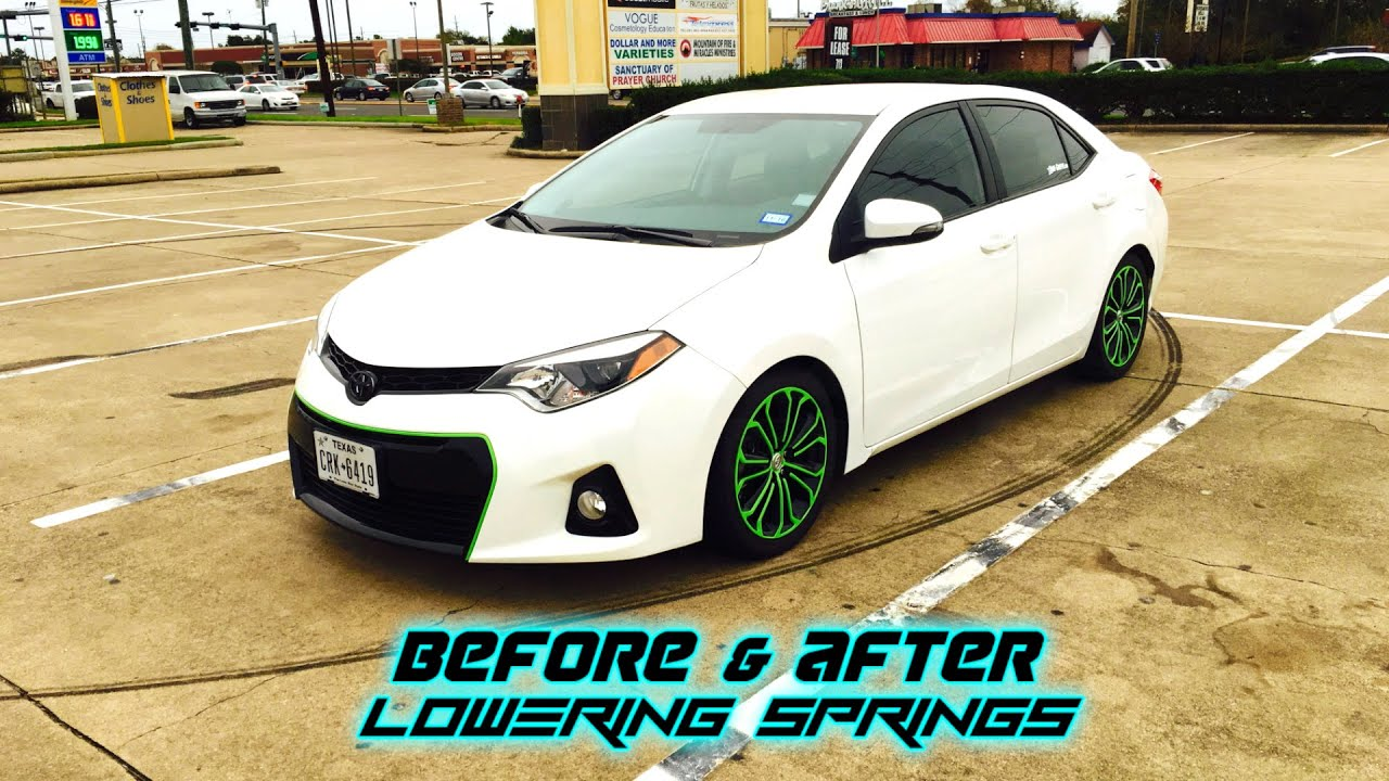 Toyota Corolla Lowering Springs Before Amp After Youtube