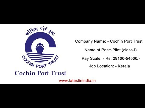cochin port trust recruitment 2018