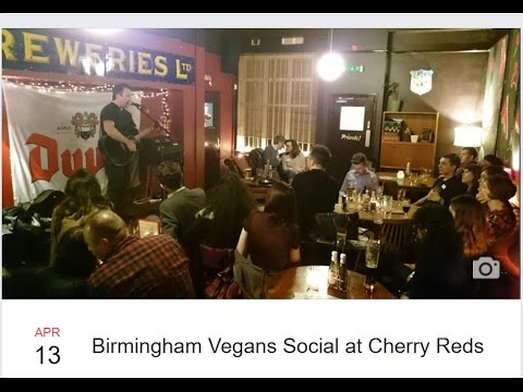 Vegan Social at Cherry Reds + Interviews with real life vegans