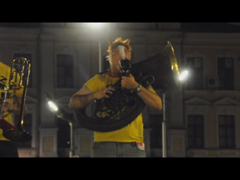 Incredible talented orchestra street performance in Kharkiv. Ukraine