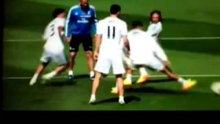 Gareth Bale vs Cristiano Ronaldo Antrenmanda