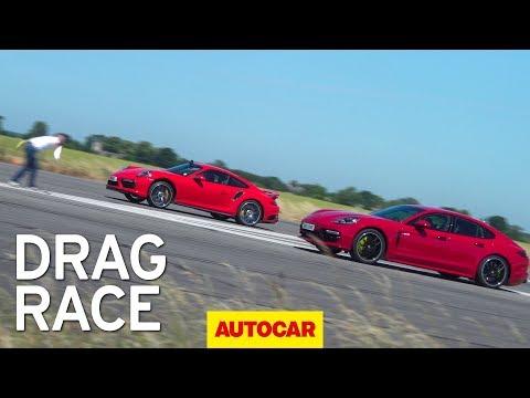 Porsche Panamera Turbo S против Porsche 911 Turbo S: дрэг-гонка