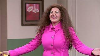 دنيا سمير غانم مذيعة 4x1 من العالم العربي snl بالعربي