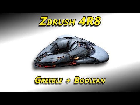 Zbrush 4R8 Greeble + Boolean