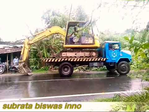 Simple Trick To Unload Excavator From A Truck