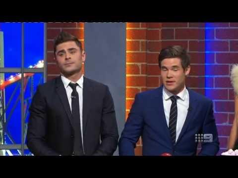 Zac Efron & Adam DeVine - PART 1   NRL Footy Show   Ep 19 06-07-2016