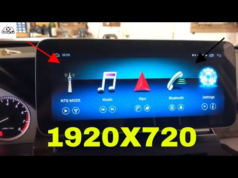 "10.25"" Android Screen Mercedes GLK High Resolution 1920x720 Round Corner 4 GB Ram And 64 GB Rom"