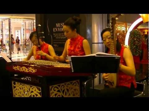 Traditional Chinese Music - 上海灘 Shanghai Beach by Yue Trio @ Paragon Music En Vogue 30 Jan 2013