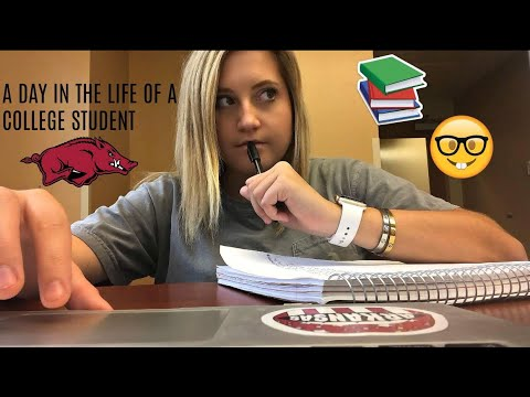 A DAY IN THE LIFE OF A COLLEGE STUDENT | UNIVERSITY OF ARKANSAS