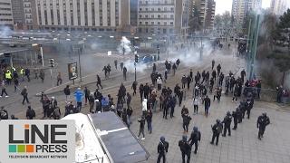 Le rassemblement pour Théo vire à l'émeute urbaine / Bobigny (93) - France 16 février 2017