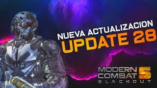 Modern Combat 5. UPDATE/ACTUALIZACION 28. REDES SOCIALES: TWITTER: ...