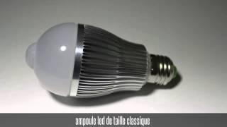 ampoule led 6W avec detecteur de mouvement
