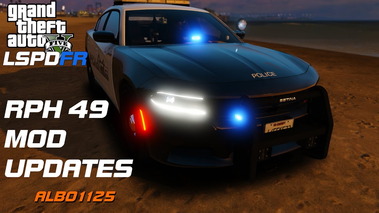 RPH 49 MOD UPDATES & DOWNLOAD | ALBO1125 LSPDFR | Grand Theft Auto 5 Police  Mod