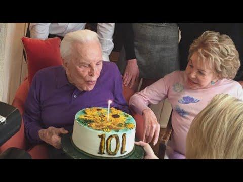 How Kirk Douglas Celebrates His 101st Birthday