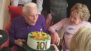How Kirk Douglas Celebrates His 101st Birthday