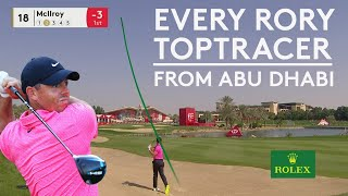 Every Rory McIlroy Tracer from Abu Dhabi