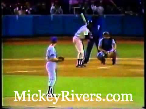 Mickey Rivers in Game 3 of the 1978 World Series
