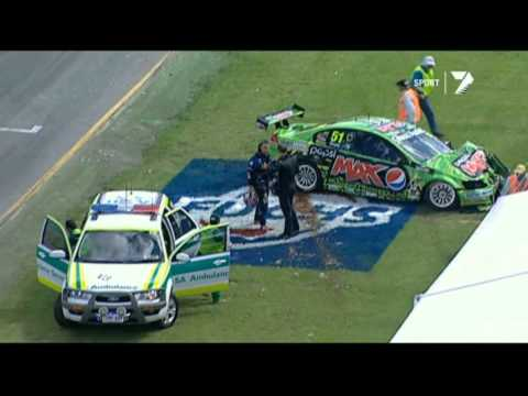 Greg Murphy and Jonathon Webb Qualifying Crash