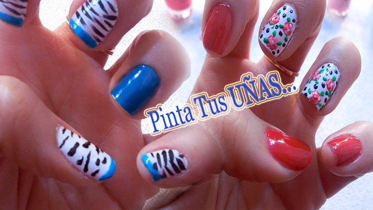 Pinta tus UÑAS.. ✿dos diseños de uñas para primavera 2014✿✿ - YouTube