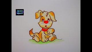 Как нарисовать ЩЕНКА, СОБАЧКУ/169/How to draw a PUPPY DOG