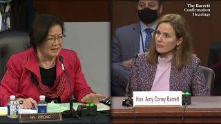 WATCH: Sen. Mazie Hirono questions Amy Coney Barrett about potential election case