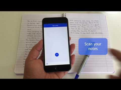 Pen to Print - Convert handwriting to digital text