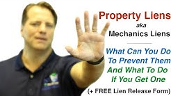 Property Lien(aka Mechanics Lien): What Is It And How To Avoid It + Release Of Lien Form