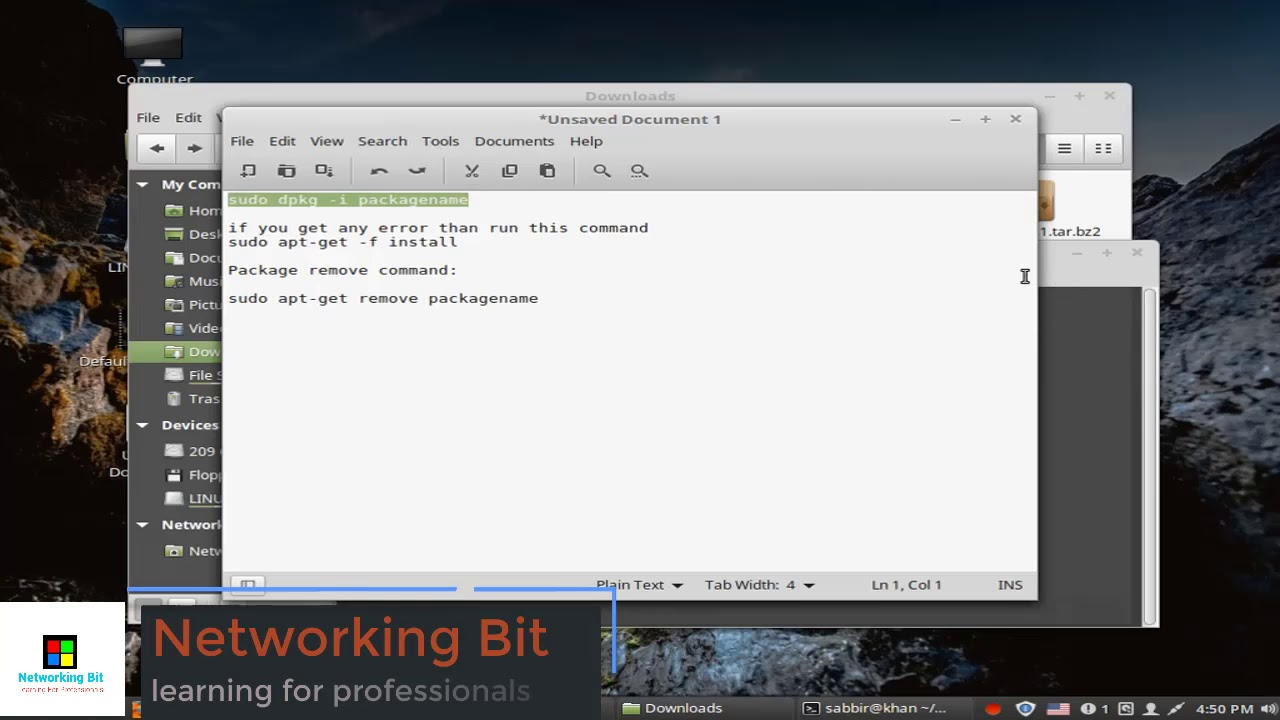 Install and Remove deb package in linux
