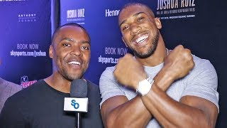 Anthony Joshua NOBODY in UK Wants to Fight ME!! -  NEW YORK GRAND ARRIVAL
