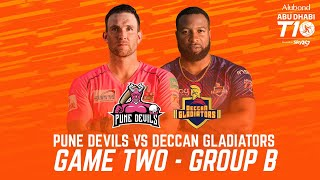 Match 2 HIGHLIGHTS I Pune Devils vs Deccan Gladiators I Day 1 I Abu Dhabi T10 I Season 4