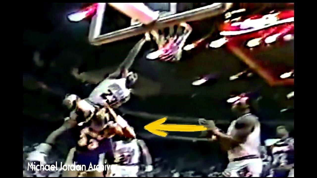 Michael Jordan Sick Dunk Attempt On Kareem Abdul Jabbar Youtube