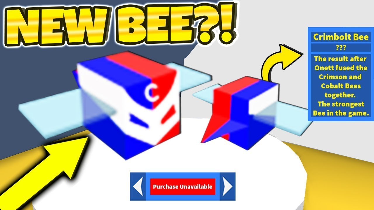 Secret New Crimbolt Bee Leaked Roblox Bee Swarm Simulator