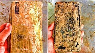 Restoration  Samsung A9S phone destroyed - abandoned | Restore broken smartphone rebuild