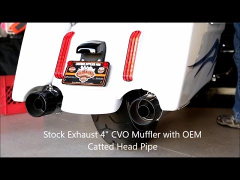 Harley Stock Exhaust vs CFR KO Exhaust Sound Comparisons with Catted Head Pipes