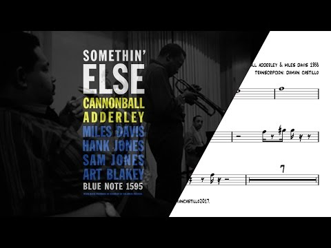 """Autumn Leaves"" - Cannonball Adderley & Miles Davis - 🎷Sax Alto transcription🎷"