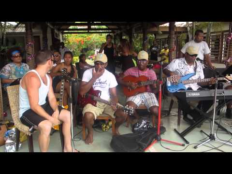 New Years Day 2014 Fiji ~ freestyle jam with the Tolu Band