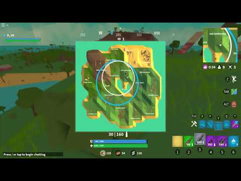 I WON A GAME OF ROBLOX FORTNITE BY CAMPING IN A BUSH