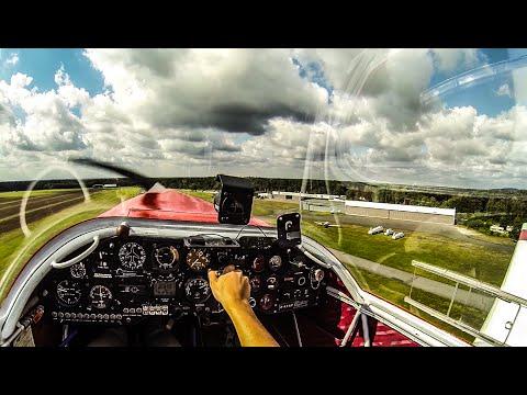 PILOT´S CAM   VFR COCKPIT FLIGHT   TAKEOFF , FLYING, LANDING   EDLO-EDLO