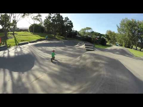 Parker carving up the skate part on his balance bike