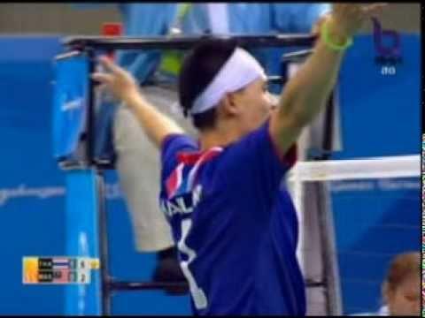 Sepak Takraw(Men's Team A+B) @2010 Asian Games - Thailand vs Malaysia (Gold Medal Match) 4/7