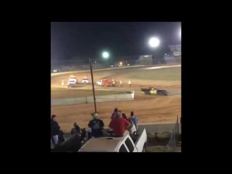 13 year old Jordan Fowler super street feature race golden isles speedway 5-14-16