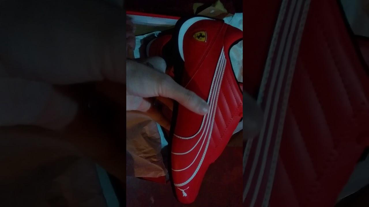 Tênis puma Scuderia Ferrari Future kart cat masculino - YouTube fdad68984e061
